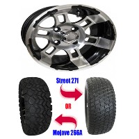 "Brand New 23"" Lifted Golf Cart Tires and 12"" RX121 Wheels Set"