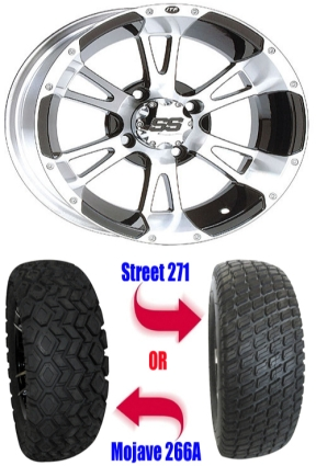 12 Wheel Tire Combo Package With Lift Kit Fits Club Car Precedent 04 Current