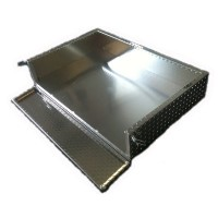 Brand New Aluminum Diamond Plate Cargo Box/Utility Bed for Club Car Precedent 04-Current