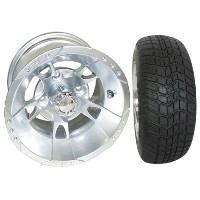 """Brand New Lifted Golf Cart Tires and 10"""" RHOX 8 Spoke Wheels Set"""