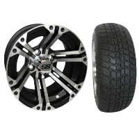 "Brand New Lifted Golf Cart Tires and 12"" ITP SS212 Wheels Set"