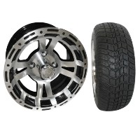 "Brand New Lifted Golf Cart Tires and 12"" RHOX 131 Wheels Set"