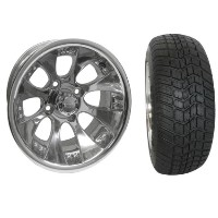 "Brand New Lifted Golf Cart Tires and 12"" RHOX 110  Wheels Set"