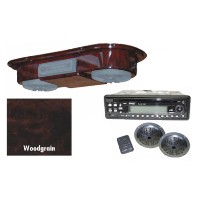 Brand New Marine Grade Woodgrain Universal Golf Cart Overhead Radio Console