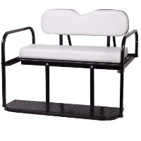 Brand New White Golf Cart Rear Flip Back Seat Cargo Bed Kit for Club Car Precedent 04-Current