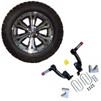 "14"" Golf Cart Tire/Wheel Package Combo with Lift Kit.  Fits EZGO TXT (Gas) 08-Current."