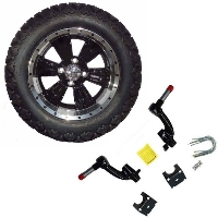 "14"" Golf Cart Tire/Wheel Package Combo with Lift Kit.  Fits EZGO TXT 94-01."