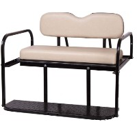 Brand New Buff Golf Cart Rear Flip Back Seat Cargo Bed Kit for Club Car DS 82-Current