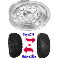 "Brand New Lifted Golf Cart Tires and 10"" Fontana Wheels Set"