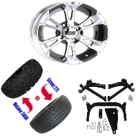 "12"" Wheel/Tire Combo Package with Lift Kit.  Fits Yamaha G14-G19 95-02."