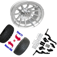 "12"" Wheel/Tire Combo Package with Lift Kit.  Fits Club Car Precedent 04-Current."
