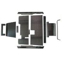 Brand New High Quality Black Diamond Plate Accessories Kit for EZGO TXT 95-Current