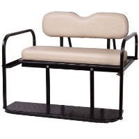 Brand New Buff Golf Cart Rear Flip Back Seat Cargo Bed Kit for Club Car Precedent 04-Current