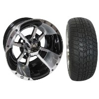 "Brand New Lifted Golf Cart Tires and 10"" SS112 Wheels Set"