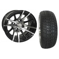 "Brand New Lifted Golf Cart Tires and 12"" RHOX 101 Wheels Set"