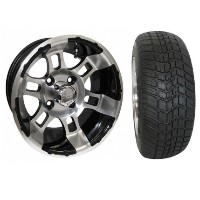 "Brand New Lifted Golf Cart Tires and 12"" RHOX 121 Wheels Set"