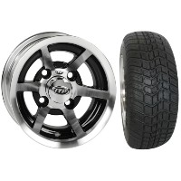 "Brand New Lifted Golf Cart Tires and 10"" ITP SS6 Machined Wheels Set"