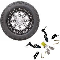 "14"" Lifted Golf Cart Tire/Wheel Package Combo with Lift Kit.  Fits EZGO TXT 01-Current."
