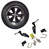 "14"" Golf Cart Tire/Wheel Package Combo with Lift Kit.  Fits Club Car DS 84-96."
