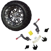 "14"" Golf Cart Tire/Wheel Package Combo with Lift Kit.  Fits EZGO TXT (Electric) 94-01."