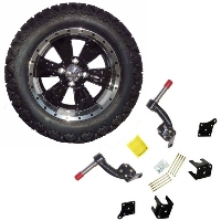 "14"" Golf Cart Tire/Wheel Package Combo with Lift Kit.  Fits EZGO TXT 95-01."