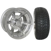 "Brand New Lifted Golf Cart Tires and 10"" RHOX Richmond Wheels Set"