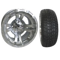 "Brand New Lifted Golf Cart Tires and 12"" RHOX 132 Wheels Set"
