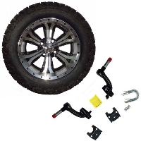 "14"" Golf Cart Tire/Wheel Package Combo with Lift Kit.  Fits EZGO TXT (Gas) 94-01."
