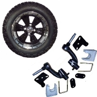"14"" Golf Cart Tire/Wheel Package Combo with Lift Kit.  Fits EZGO RXV (Gas) 08-Current."