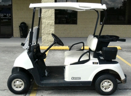 EZ-GO Gas Golf Cart RXV 13 hp Kawasaki White Seats/Tops on lincoln on a rail cart, 2013 ezgo txt, 2013 ezgo electric golf cart,