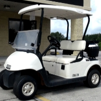 EZ-GO Gas Golf Cart RXV 13 hp Kawasaki White Seats/Tops