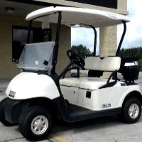 EZ-GO Gas Golf Cart RXV 13 hp Kawasaki White Seats/Tops