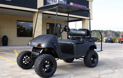 You Will Be Extremely Excited Once Receive The 36v Matte Black Ez Go Lifted Electric Golf Cart Because It Has What Other Compeors On Ebay