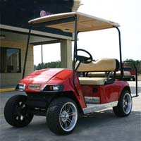 36v Red EZ-GO Electric Golf Cart