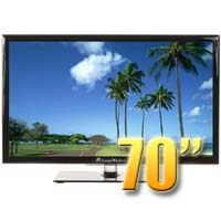 MirageVision Diamond Series 70 Inch 1080p TV LED Outdoor Smart HDTV Television