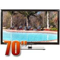 MirageVision Gold Series 70 Inch 1080p TV LED Outdoor HDTV Television
