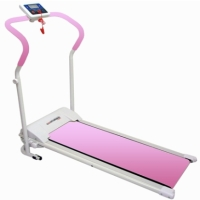 Brand New Magnetic Manual Fitness Treadmill Pink