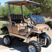 FULLY CUSTOM Yamaha Golf Cart
