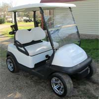 48V White Baller Edition Club Car Precedent Lifted Golf Cart