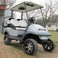 48V Grey Club Car Precedent Lifted Electric Golf Cart