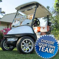 48V Custom NCAA Texas Longhorns Club Car Precedent Electric Golf Cart - Choose Your Team