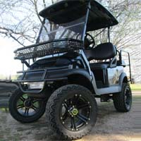 Black Pipe Line Edition Club Car Precedent Lifted Electric Golf Cart