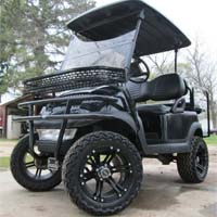 48V Black Club Car Precedent Lifted Electric Golf Cart