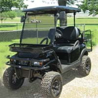 Street Legal 48V Black Stealth Club Car Precedent Electric Golf Cart