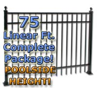 "75 ft Complete Elegant Residential Aluminum 54"" Pool Fencing Package"