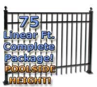 "75 ft Complete Elegant Residential Aluminum 54"" Pool Fencing Package"