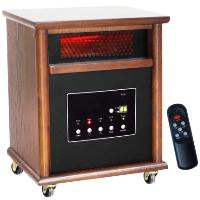 1500 Watt Lifesmart 6 Element Quartz Infrared Heater w/ Remote Control - Heats Up to 1800 Square Feet