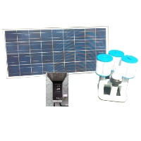 Brand New Bottom Feeder 20,000 Gallon Pool 120-watt Solar Pump and Filter System