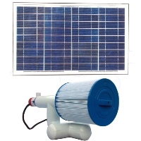 Brand New Bottom Feeder 5,000 Gallon Pool 30-watt Solar Pump and Filter System