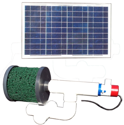 Brand new bottom feeder 5 000 gallon pond 30 watt solar for Solar water filter for ponds